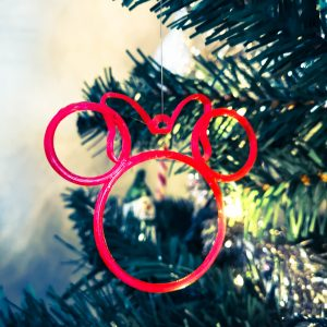 Minnie Mouse Inspired Contour Christmas Tree Decoration - 1